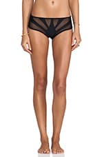 The Amalfi Cropped Bottom en Noir