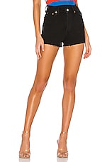 LEVI'S RibCage Short in Washed Black