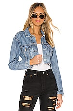 LEVI'S Cut Off Crop Trucker in Off the Grid