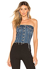 LEVI'S Lace Up Denim Corset in Laced Up