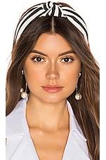 Lele Sadoughi Woven Headband in Black & White