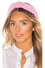 Lele Sadoughi X REVOLVE Woven Bead Headband in Candy Pink