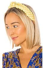 Lele Sadoughi Beaded Woven Headband in Lemon