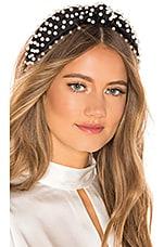 Lele Sadoughi Pearl Headband in Jet Pearl