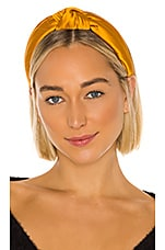Lele Sadoughi Silk Knotted Headband in Goldenrod