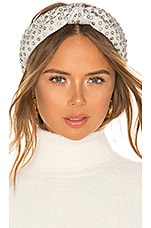 Lele Sadoughi Crystal Headband in Silver Crystal