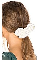 Lele Sadoughi Pearl Scrunchie in Ivory