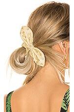 Lele Sadoughi Crystal Scrunchie in Gold Crystal
