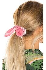 Lele Sadoughi Velvet Scrunchie in Lipstick Pink