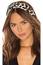 Lele Sadoughi Leopard Silk Headband in Leopard