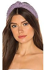 Lele Sadoughi Crystal Woven Headband in Lilac