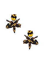 Lele Sadoughi Small Paper Lily Earring in Tortoise