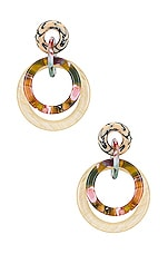 Lele Sadoughi Double Ring Hoop Earring in Bone