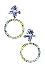 Lele Sadoughi Trillium Hoop Earring in Citron