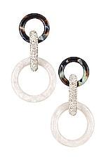 Lele Sadoughi Loop Earrings in Black & White