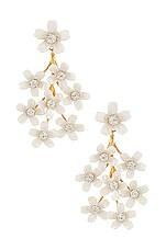 Lele Sadoughi Bouquet Earrings in White