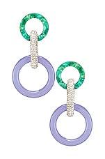 Lele Sadoughi Loop Earrings in Periwinkle