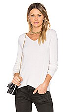 V Neck Sweater in Off White