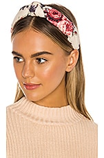 LoveShackFancy x Lele Sadoughi Ruched Headband in Malbec