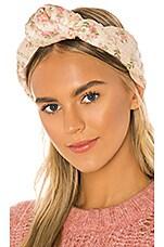 LoveShackFancy Sheridan Headband in Rose Hemp