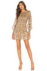 LoveShackFancy Scarlett Mini Dress in Cinnamon