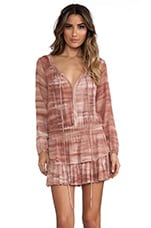 Popover Ruffle Mini Dress in Sunbaked Clay