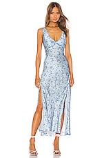 LoveShackFancy Kendall Dress in Mystical Blue