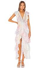 LoveShackFancy India Maxi Dress in Multi Tie Dye