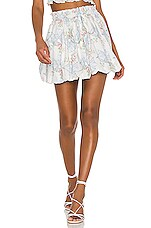LoveShackFancy Cheyenne Skirt in Pastel Blue
