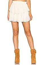 Ruffle Mini Skirt in Dahlia