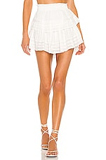 LoveShackFancy Ruffle Mini Skirt in Antique Cream