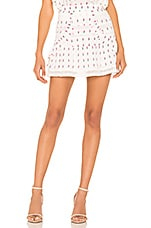 LoveShackFancy Dahlia Skirt in Garden Multi