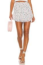 LoveShackFancy Ruffle Mini Skirt in Pearl River