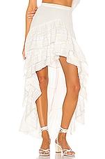 LoveShackFancy Lisette Maxi Skirt in Antique White