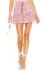 LoveShackFancy Becca Skirt in Hollywood Pink