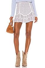LoveShackFancy Raina Skirt in Dusk