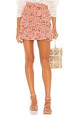 LoveShackFancy Ruffle Mini Skirt in Sunset Pink