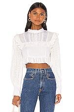 LoveShackFancy Doreen Crop Top in White