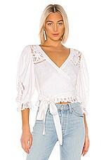 LoveShackFancy Domino Top in White