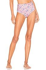 LoveShackFancy Mason Bikini Briefs in Pink Garden