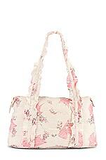 LoveShackFancy Davie Duffle Bag in Pink Mint