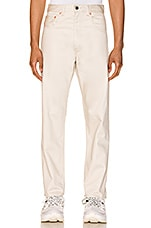 LEVI'S Vintage Clothing 5 Pocket Sateen Pant in Creme Brulee