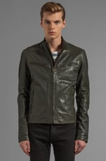 LEVI'S: Made & Crafted Leather Biker Jacket in Peat