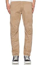 Crouch Pants in Khaki Buffed
