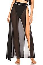 lovewave The Rocha Skirt in Black & Nude
