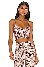 LOVEWAVE The Kym Top in Pink Leopard