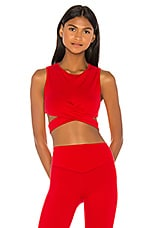 LOVEWAVE The Decker Top in Scarlet