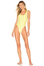 lovewave Axel One Piece in Chartreuse Stripe