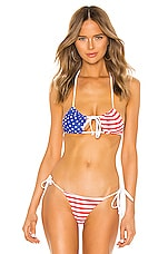 LOVEWAVE Stars & Stripes Top in American Flag
