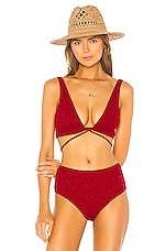 LOVEWAVE Jade Top in Crimson